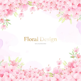 Fundo floral floral blossom frame