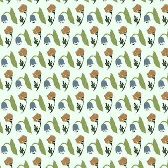 Fundo floral fofo padrão de vetor sem costura teste padrão de flor em fundo branco