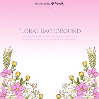 Fundo floral gradiente