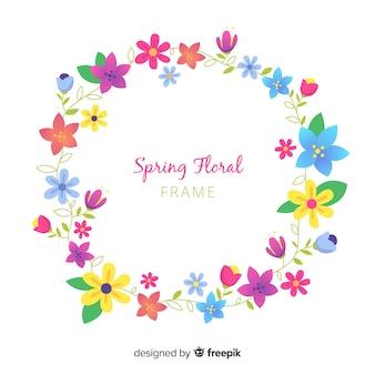 Fundo floral grinalda de primavera