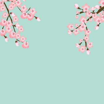 Fundo floral japonês flor de sakura floral abstrato