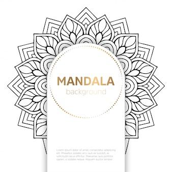 Fundo floral mandala