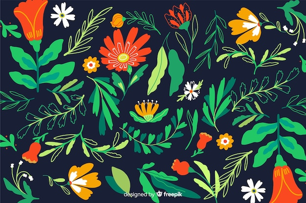 Fundo floral mexicano do bordado