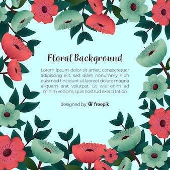 Fundo floral moderno com design realista