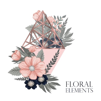 Fundo floral moderno