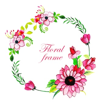 Fundo floral multi-purpose floral frame