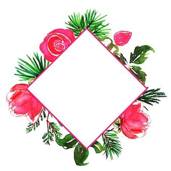 Fundo floral multi-purpose floral frame