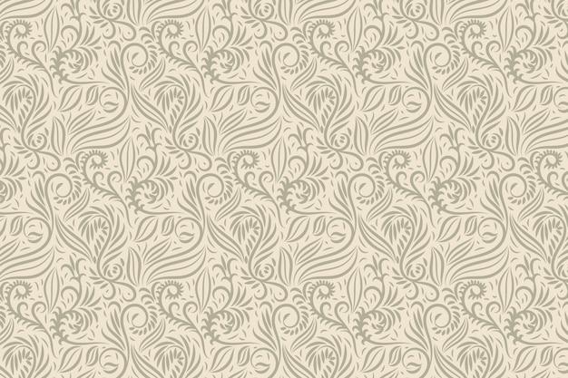 Fundo floral ornamental vintage