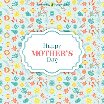 Fundo floral para o dia das mães