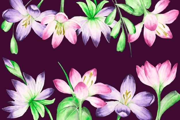 Fundo floral realista pintado à mão