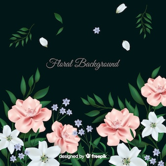 Fundo floral realista