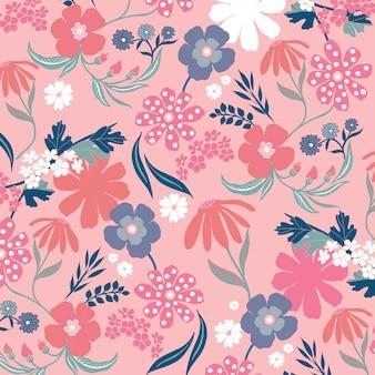Fundo floral retro
