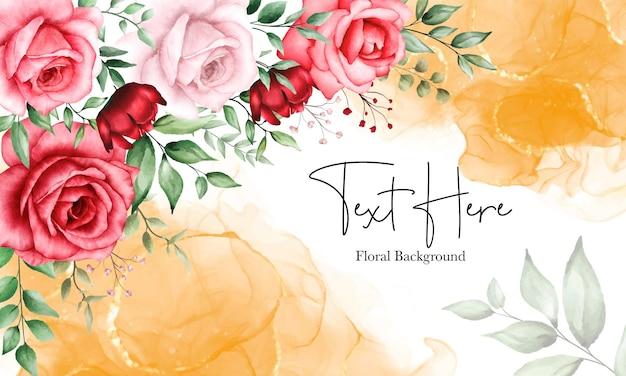 Fundo floral romântico flor marrom
