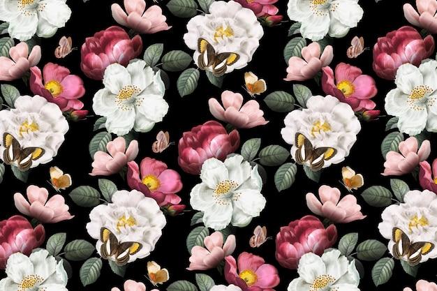 Fundo floral romântico