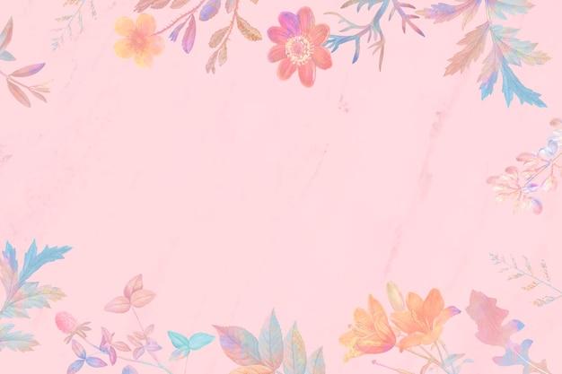 Fundo floral rosa em branco