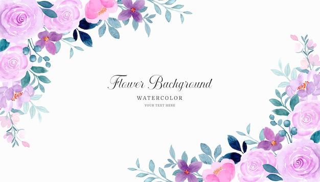 Fundo floral roxo aquarela