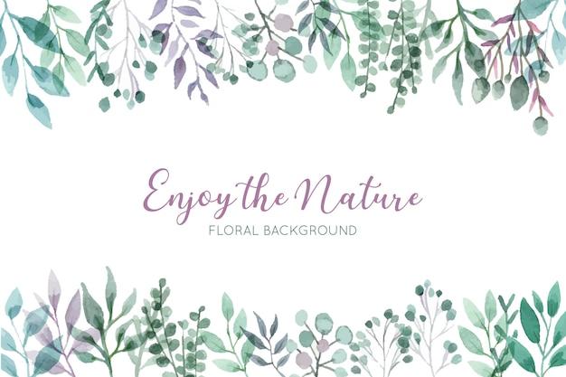 Fundo floral selvagem bonito