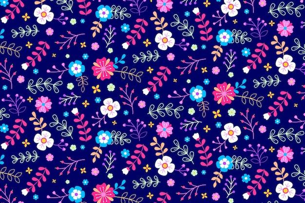 Fundo floral servindo colorido