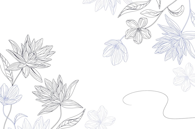 Fundo floral simples