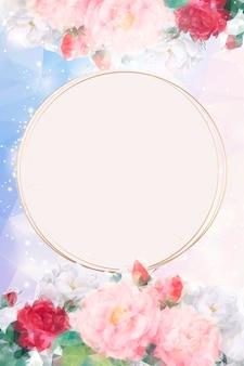 Fundo floral sonhador emoldurado