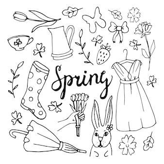 Fundo floral, tema primavera, cartão