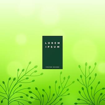 Fundo floral verde sutil deixa