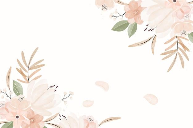 Fundo floral vintage em aquarela Vetor grátis