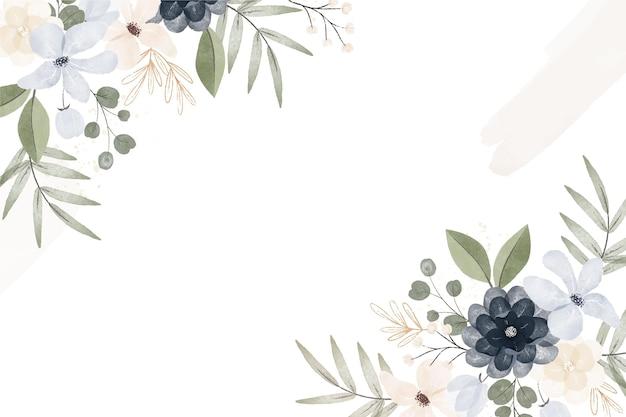 Fundo floral vintage estilo aquarela