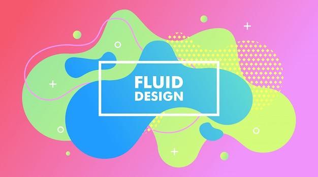 Fundo fluido abstrato gradiente moderno