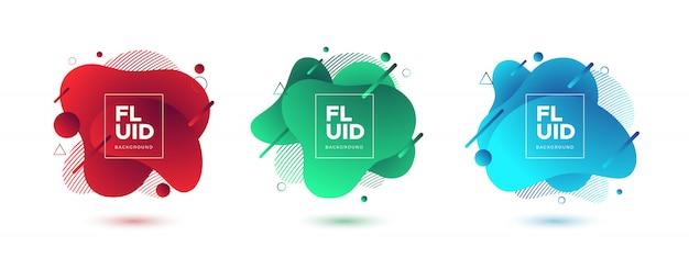 Fundo fluido abstrato