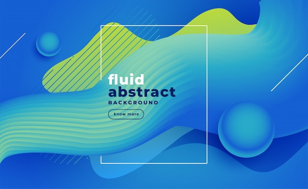 Fundo fluido azul abstrato