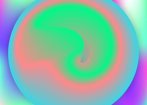 Fundo fluido. capa do círculo, layout da apresentação. pano de fundo 3d holográfico com mistura na moda moderna. malha de gradiente vívida. fundo fluido com formas e elementos dinâmicos líquidos.