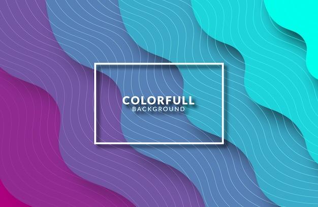 Fundo fluido colorido com design plano