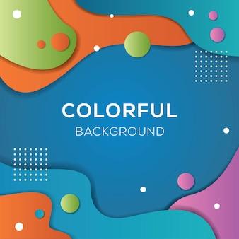 Fundo fluido de cor cheia