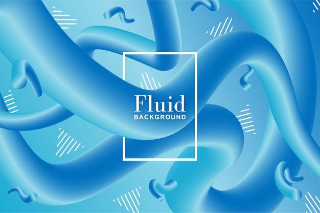 Fundo fluido frio com formas azul e turquesa