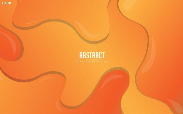 Fundo fluido laranja abstrato