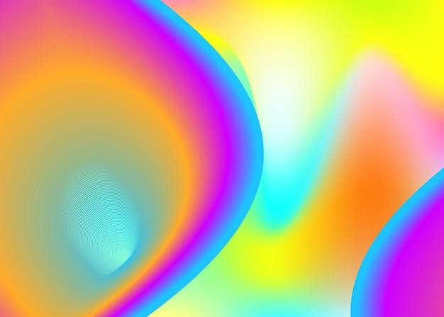 Fundo fluido. malha de gradiente vívida. pano de fundo 3d holográfico com mistura na moda moderna. livro macio, composição de apresentação. fundo fluido com formas e elementos dinâmicos líquidos.