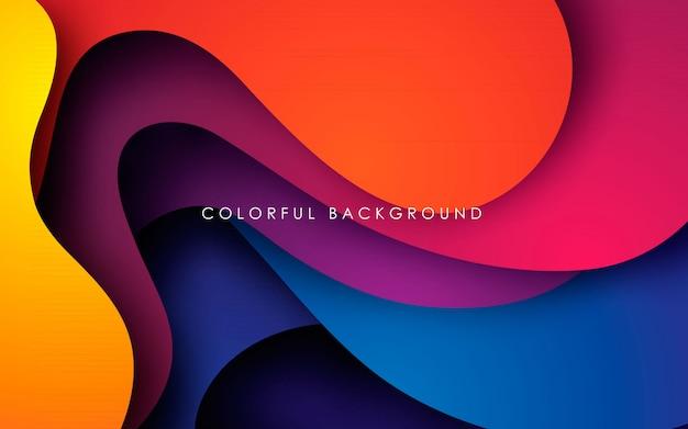 Fundo fluido ondulado colorido moderno