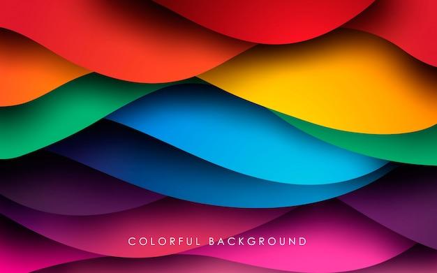 Fundo fluido ondulado colorido