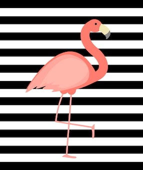 Fundo fofo flamingo rosa