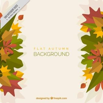 Fundo folhas de outono bonitas