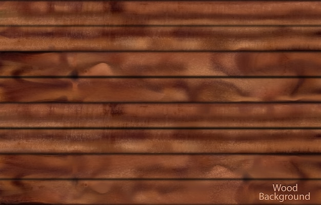 Fundo fotorrealista de pranchas de madeira escura para design