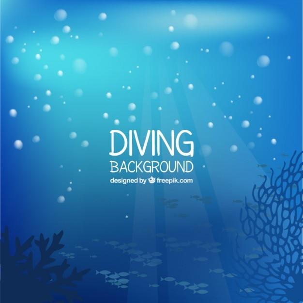 Fundo fundo do mar bonita com bolhas