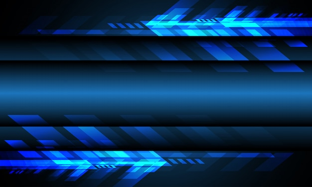 Fundo futurista abstrato azul da tecnologia do espaço vazio azul da tecnologia da seta.
