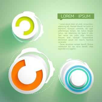 Fundo futurista abstrato com círculos