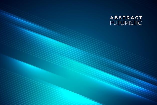 Fundo futurista abstrato com linhas azuis claras