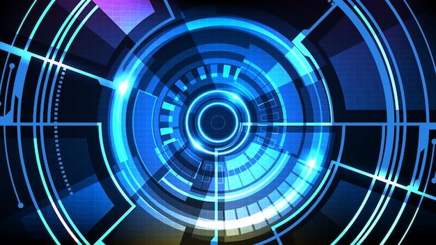 Fundo futurista abstrato da coleção circle interface sci fi frame hud ui
