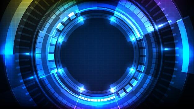 Fundo futurista abstrato da coleção de ui de quadro de ficção científica de interface de círculo