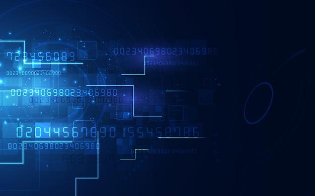 Fundo futurista abstrato da tecnologia de circuito eletrônico