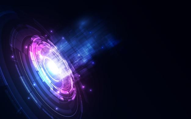Fundo futurista abstrato da tecnologia digital.